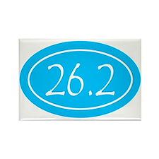 Sky Blue 26.2 Oval Rectangle Magnet