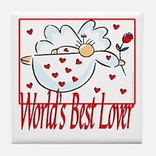 World's Best Lover Tile Coaster