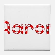 Aaron - Candy Cane Tile Coaster