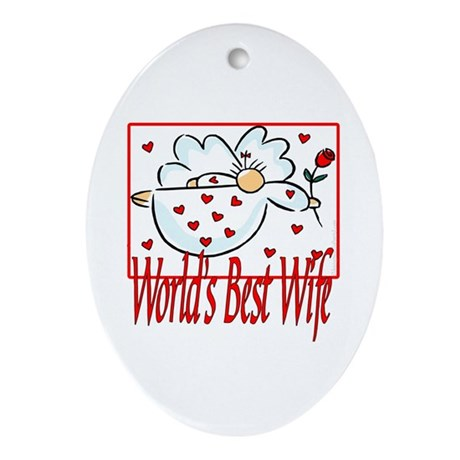 World's Best Wife Oval Ornament