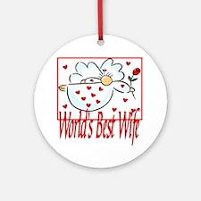 World's Best Wife Ornament (Round)
