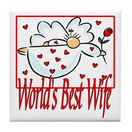 World's Best Wife Tile Coaster