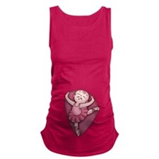 ballet-womb-T.png Maternity Tank Top