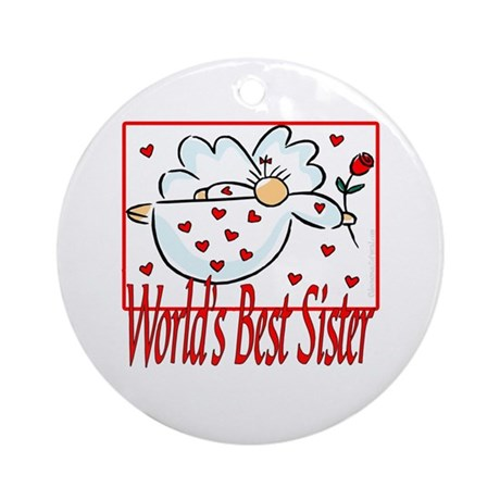 World's Best Sister Ornament (Round)