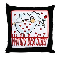 World's Best Sister Throw Pillow