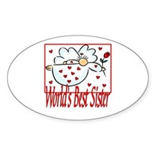 World's Best Sister Oval Decal
