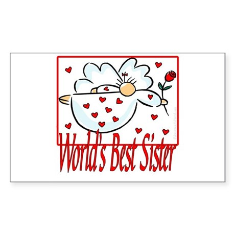 World's Best Sister Rectangle Sticker