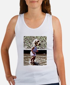 Puppy in a puddle Tank Top