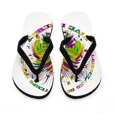 Mardi Gras Queen 4 Flip Flops