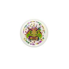 Mardi Gras Queen 4 Mini Button