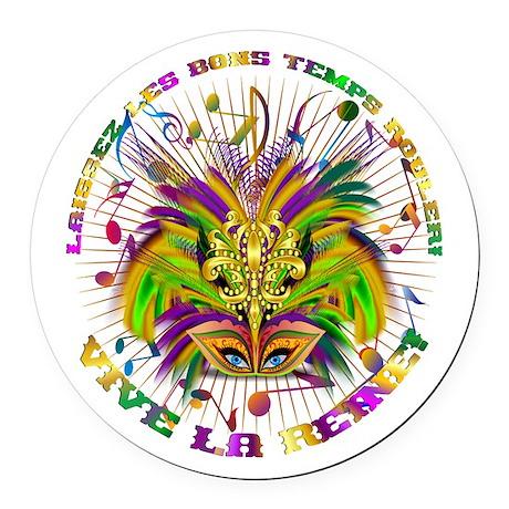 Mardi Gras Queen 4 Round Car Magnet