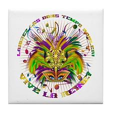 Mardi Gras Queen 4 Tile Coaster