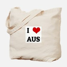 I Love AUS Tote Bag