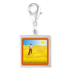 GPS Uncertainty Silver Square Charm