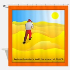 GPS Uncertainty Shower Curtain