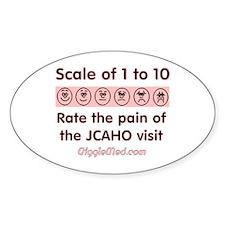 Pain o' JCAHO Oval Decal