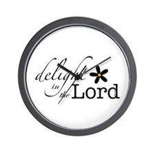 Delight in the Lord Wall Clock