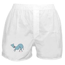 Blue Prissy Boxer Shorts