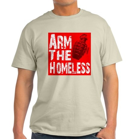 Arm The Homeless Ash Grey T-Shirt