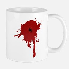 Bullet Hole With Blood Mug