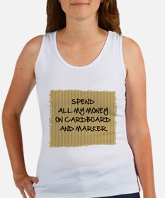 Cardboard And Marker Women's Tank Top