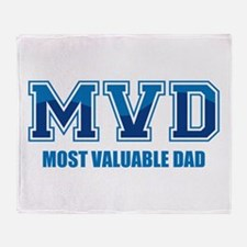 Most Valuable Dad Throw Blanket