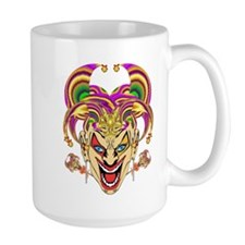 Mardi Gras Jester Ceramic Mugs