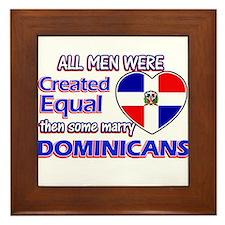 Dominican wife designs Framed Tile