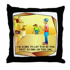 Geocaching First to Find Throw Pillow