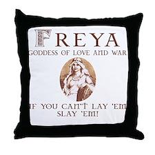 Freya Love and War Throw Pillow