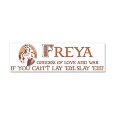 Freya Love and War Car Magnet 10 x 3