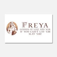 Freya Love and War Car Magnet 20 x 12