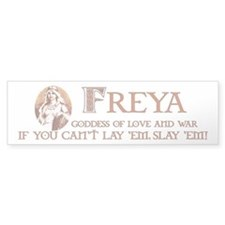 Freya Love and War Bumper Bumper Sticker