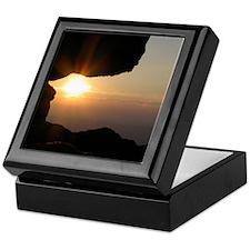 Blue Ridge Mountain Cliff Sunset - Keepsake Box