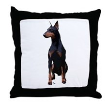 Mollys Manchester Terrier Throw Pillow