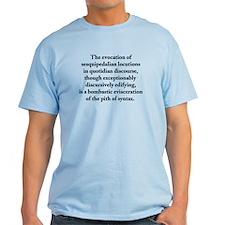 Sesquipedalian Locutions Ash Grey T-Shirt