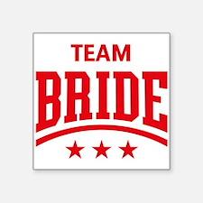 Team Bride (Stars, Red) Sticker