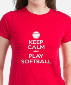 Keep Calm and Play Softball Tee