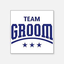 Team Groom (Stars, Blue) Sticker
