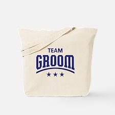 Team Groom (Stars, Blue) Tote Bag