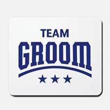 Team Groom (Stars, Blue) Mousepad