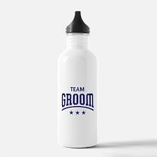 Team Groom (Stars, Blue) Water Bottle
