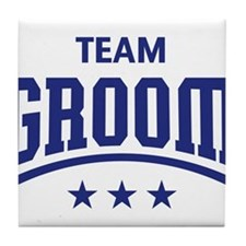 Team Groom (Stars, Blue) Tile Coaster
