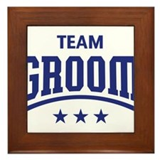 Team Groom (Stars, Blue) Framed Tile