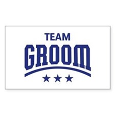 Team Groom (Stars, Blue) Decal