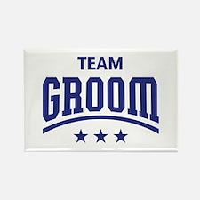 Team Groom (Stars, Blue) Rectangle Magnet