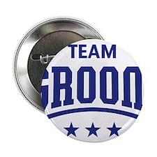 "Team Groom (Stars, Blue) 2.25"" Button"