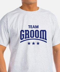 Team Groom (Stars, Blue) T-Shirt