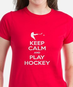 Keep Calm and Play Hockey Tee