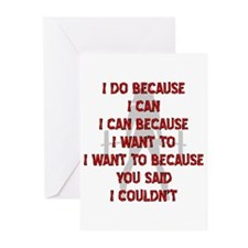 Because You Said I Couldn't Greeting Cards (Pk of